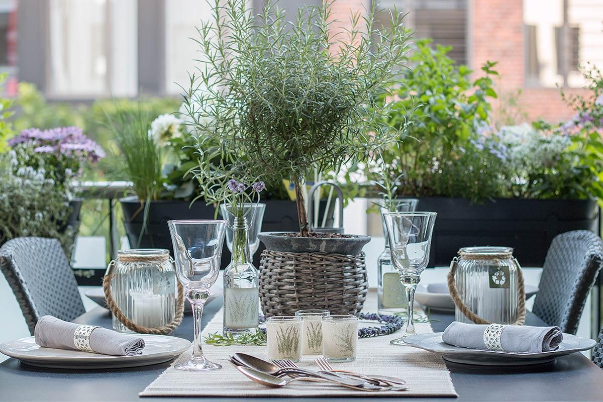 Tischdeko-Lavendel